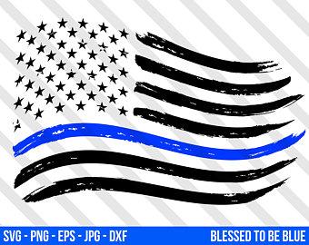 340x270 Police Flag Svg Etsy