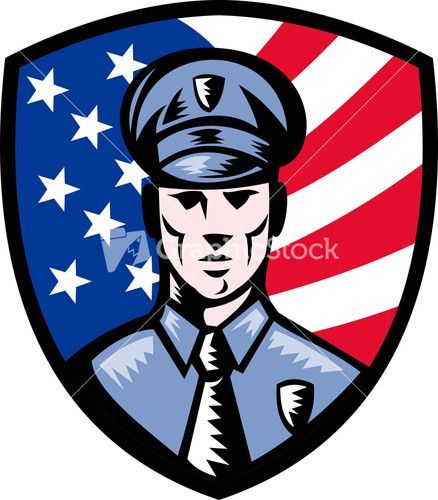 438x500 Policeman Police Officer American Flag Shield Embroidery Ideas