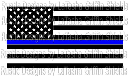 440x260 Thin Blue Line American Flag Svgvector File Amp Dxf Police Etsy