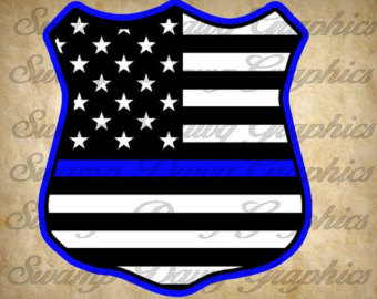 340x270 American Flag On Police Clipart
