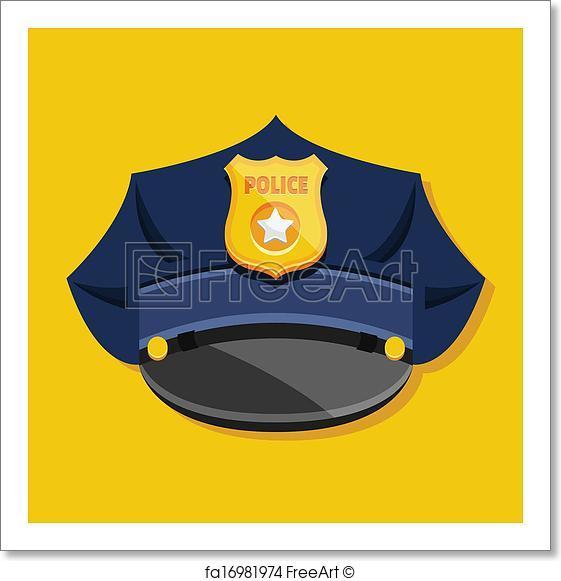 561x581 Free Art Print Of Vector Police Hat Freeart Fa16981974