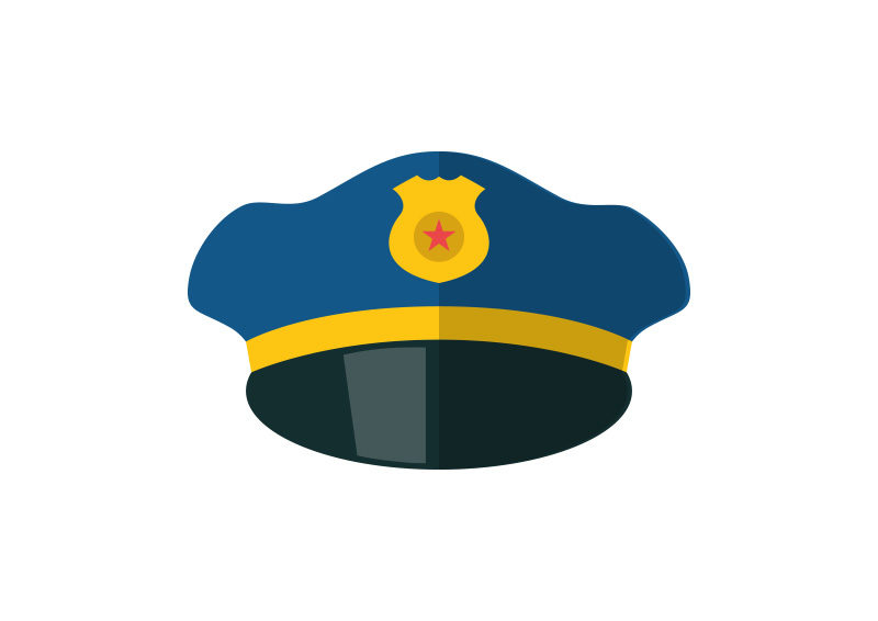 800x566 Police Hat Free Flat Style Vector Icon