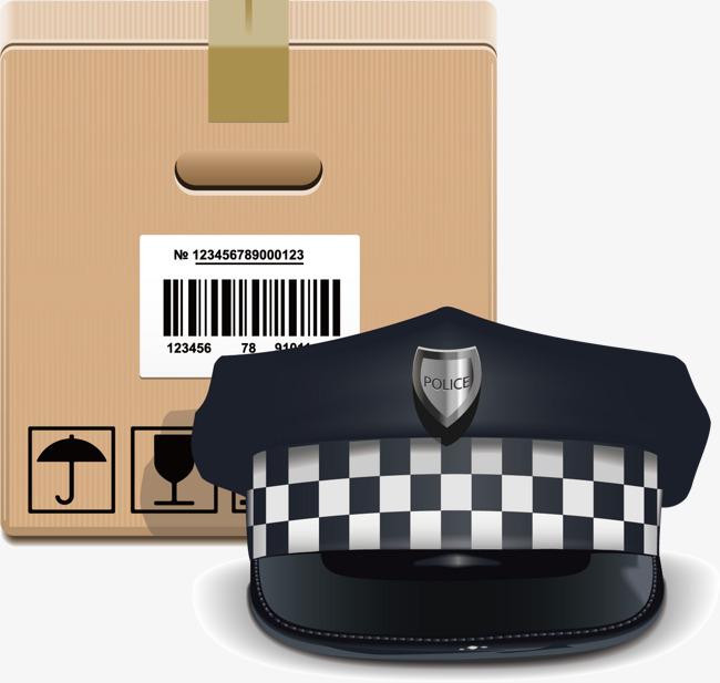 650x617 Police Hat Vector Material, Policemen, Police Hat, Vector Material
