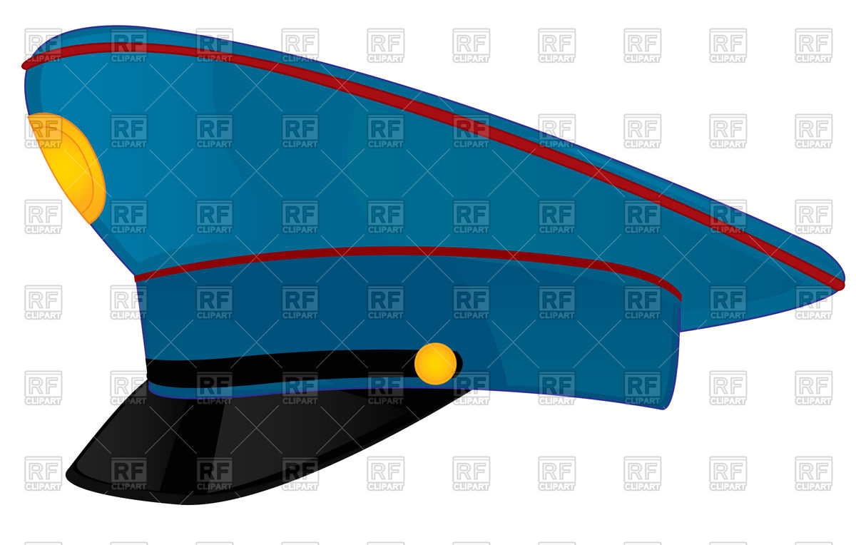 1200x764 Police Cap Vector Image Vector Artwork Of Objects Cobol1964