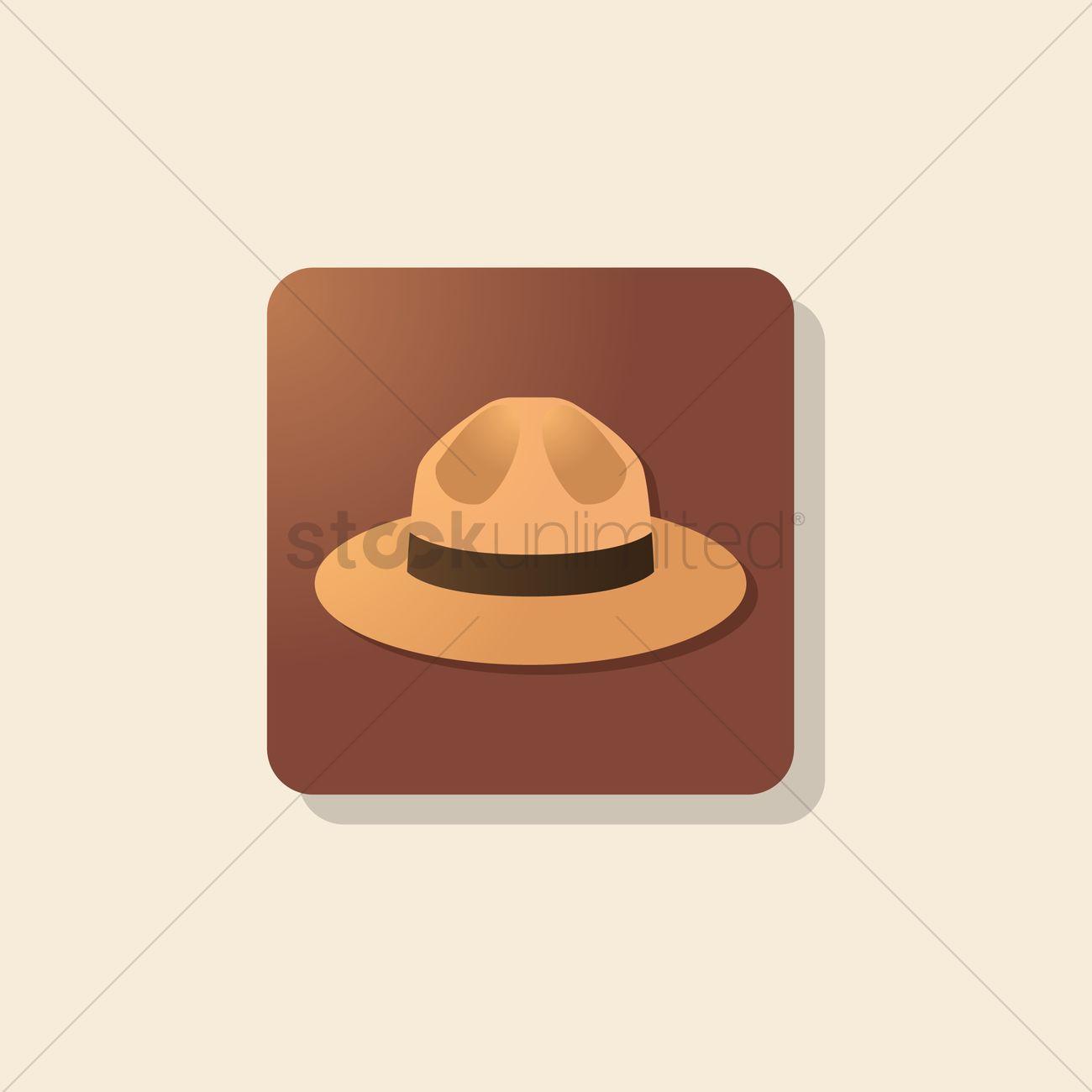 1300x1300 Police Hat Vector Image