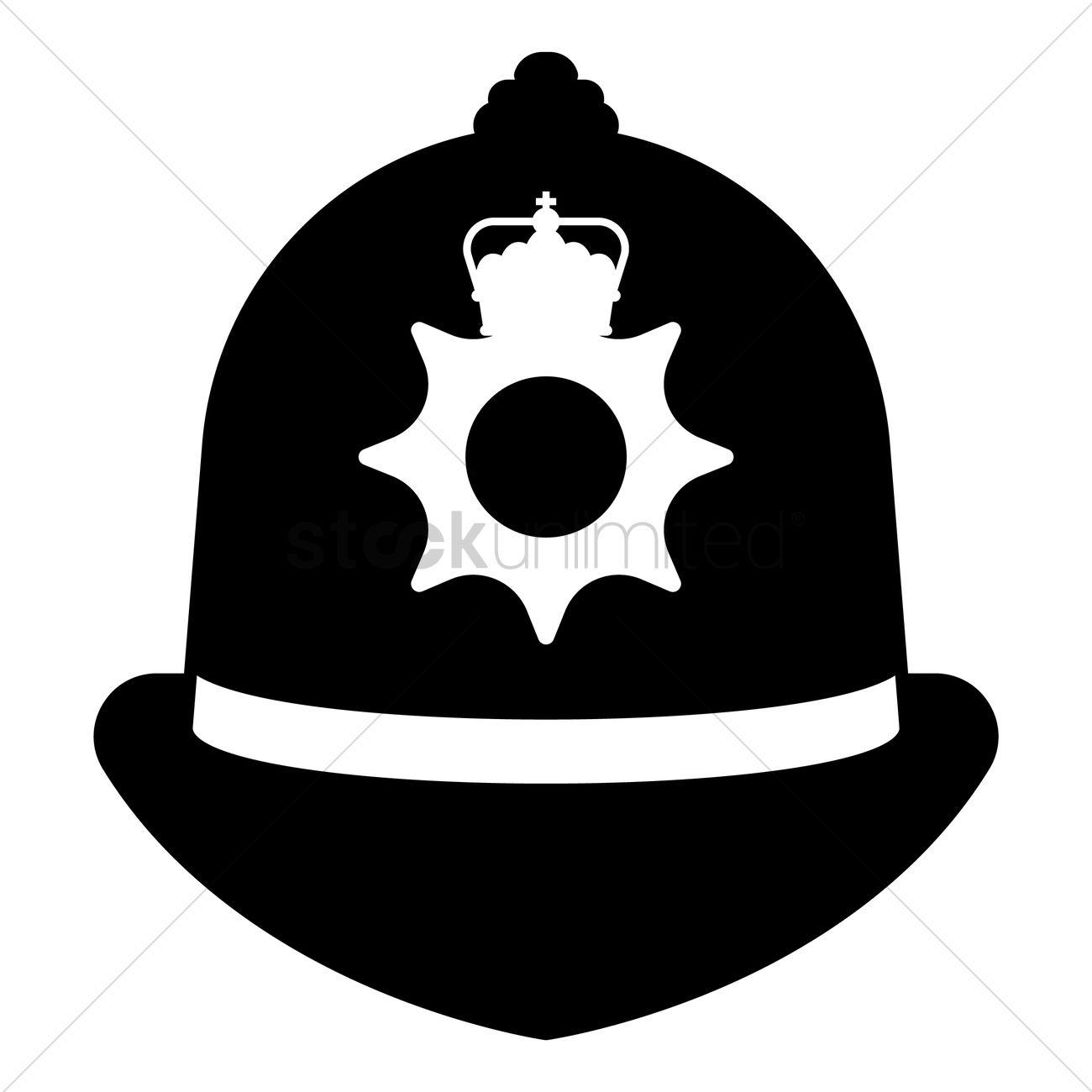 1300x1300 Uk Police Cap Vector Image