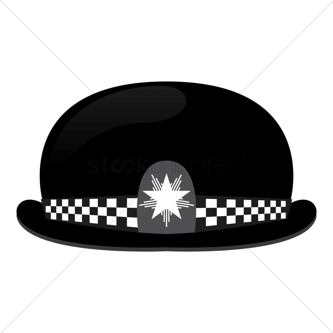 1300x1300 Uk Police Hat Vector Image