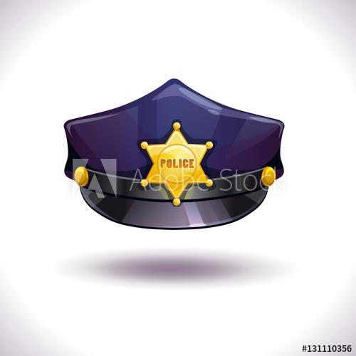 500x500 Vector Black Police Hat