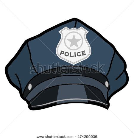 450x470 Cartoon Police Hat Police Hat Illustration Vector Stock Vector