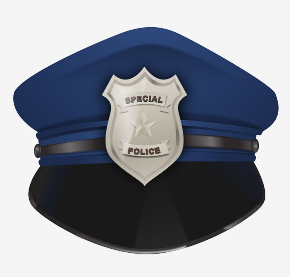 588x561 Clipart Police Cap Transparent Background
