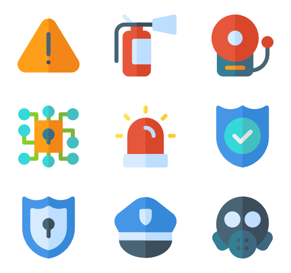 600x564 Police Icons