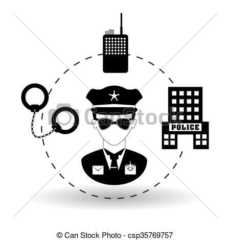 450x470 Police Icon Design. Police Concept With Icon Design, Vector