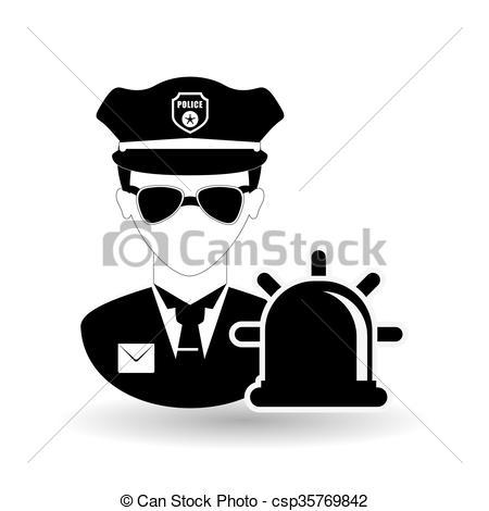450x470 Police Icon Design. Police Concept With Icon Design, Vector... Eps