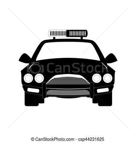 450x470 Police Icon Image. Police Car Icon Image Vector Illustration Design.