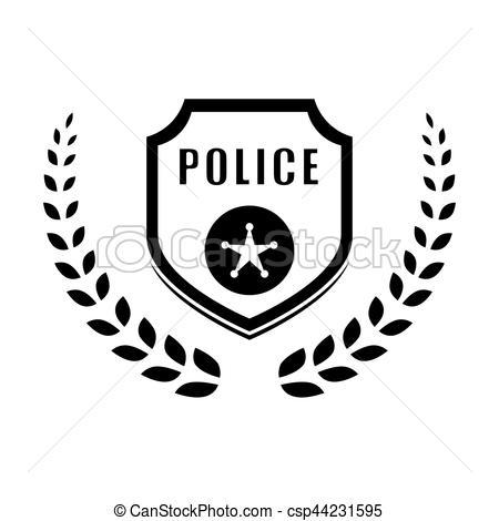 450x470 Police Icon Image. Police Emblem Icon Image Vector Illustration