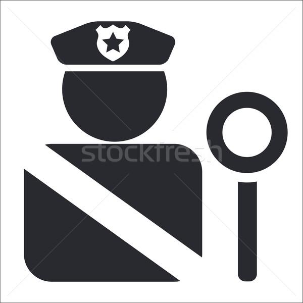 600x600 Police Icon Vector Illustration Myvector ( 2568343) Stockfresh