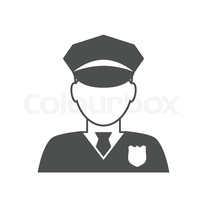 800x800 Police Officer Avatar Icon. Trendy Policeman Icon In Flat Line