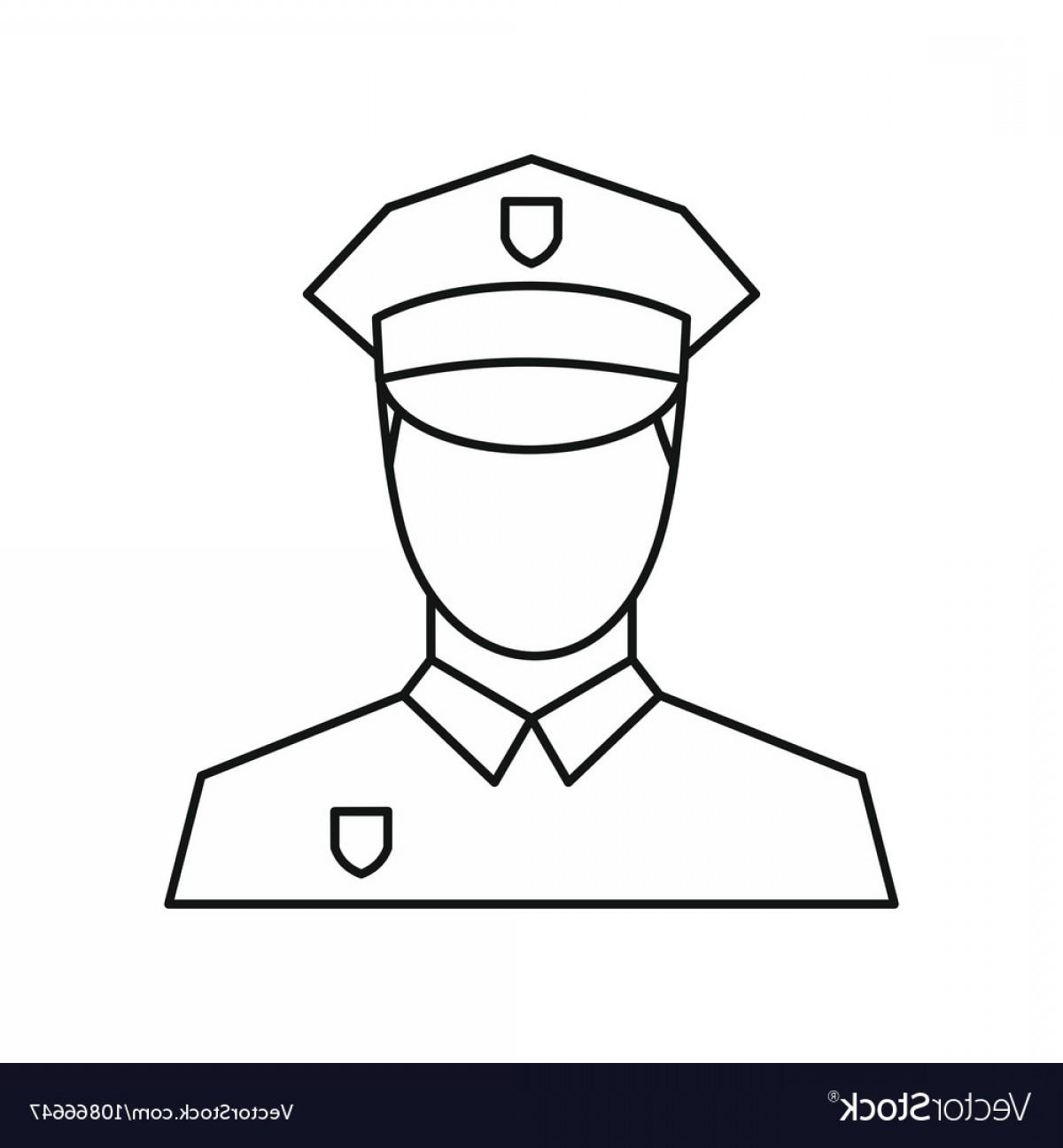 1200x1296 Policeman Icon Outline Style Vector Shopatcloth