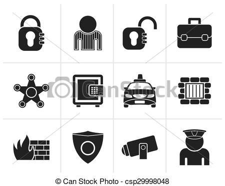 450x373 Black Social Security And Police Icons
