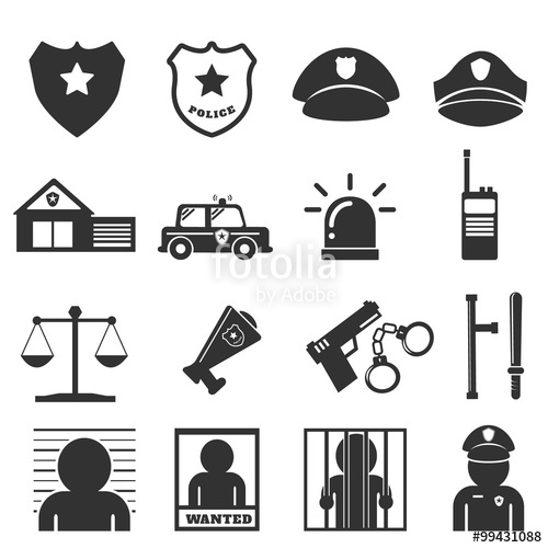 500x500 Police Icon Stock Image And Royalty Free Vector Files On Fotolia