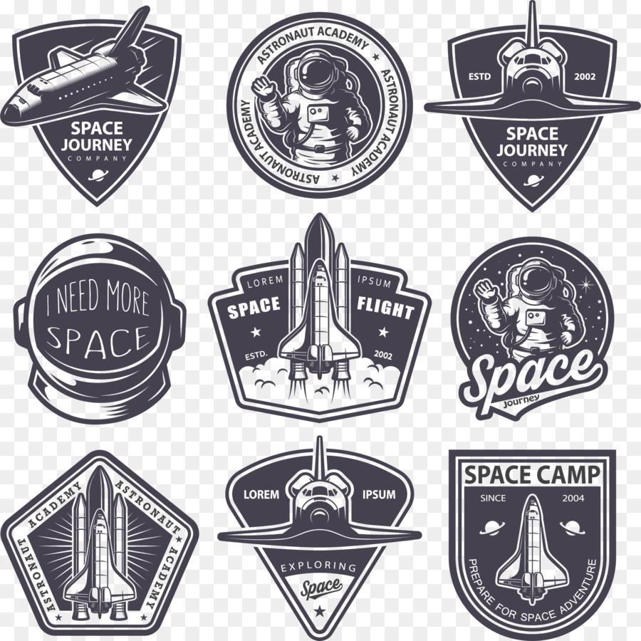 900x900 Astronaut Badge Logo
