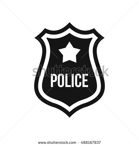 450x470 Police Badge Vector Collection