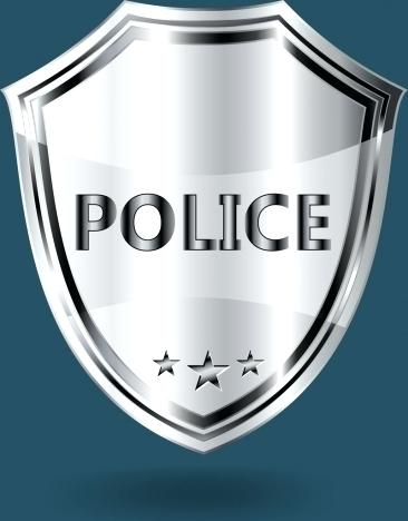 366x468 Police Badge Vector Free Download Police Badge Template Shiny Grey