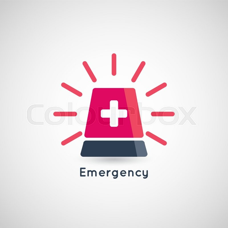 800x800 Police Or Ambulance Red Flasher Siren Logo Stock Vector Colourbox