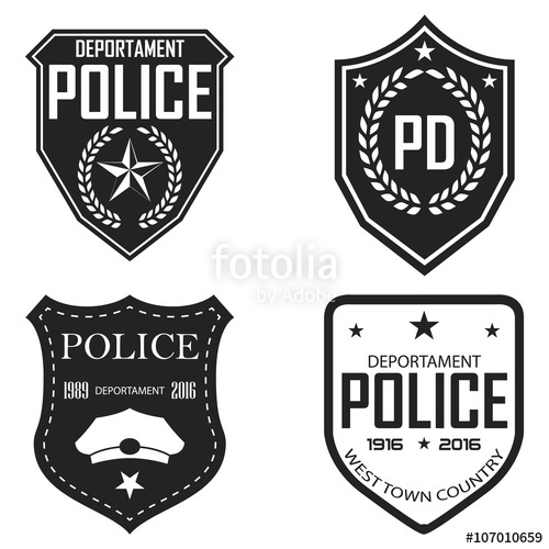 500x500 Set Of Police Law Enforcement Badges And Logo Patches. Vector