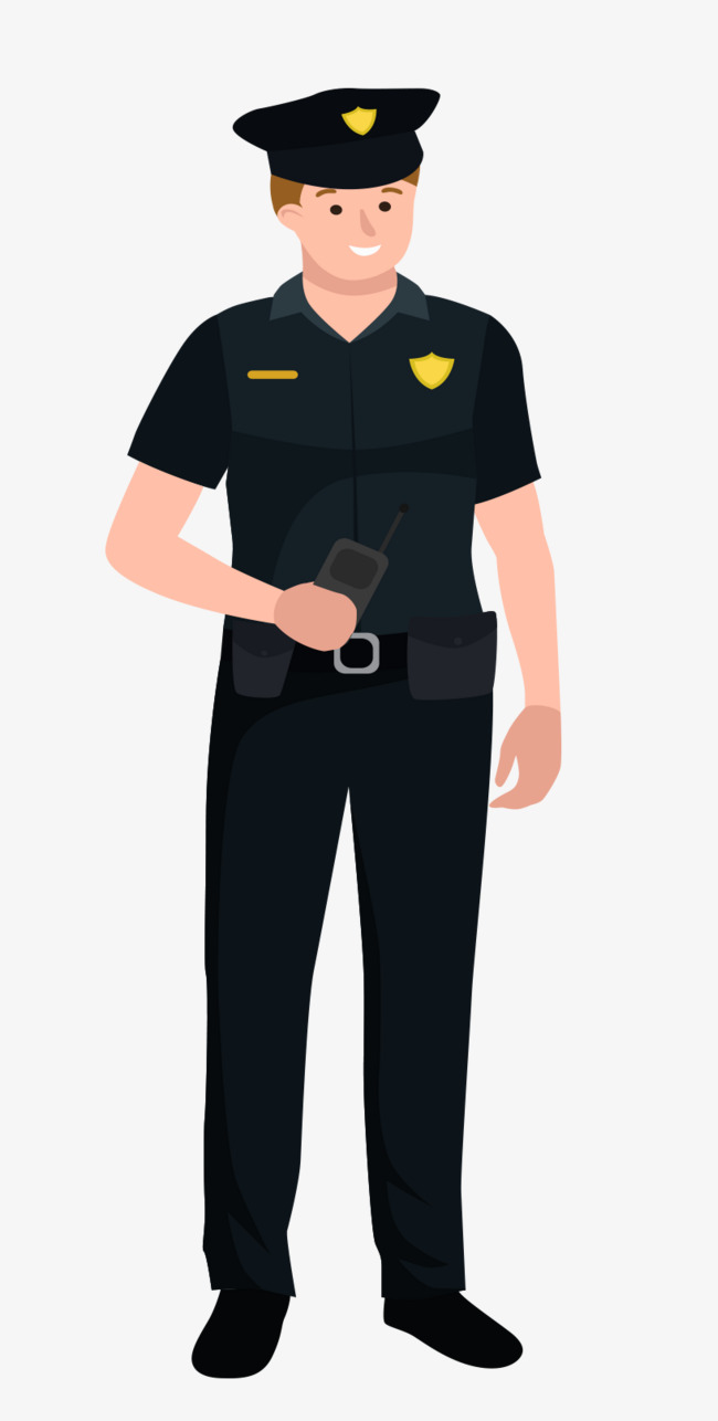 650x1286 Male Police Officer, Cartoon, Vector, Policemen Png And Vector For