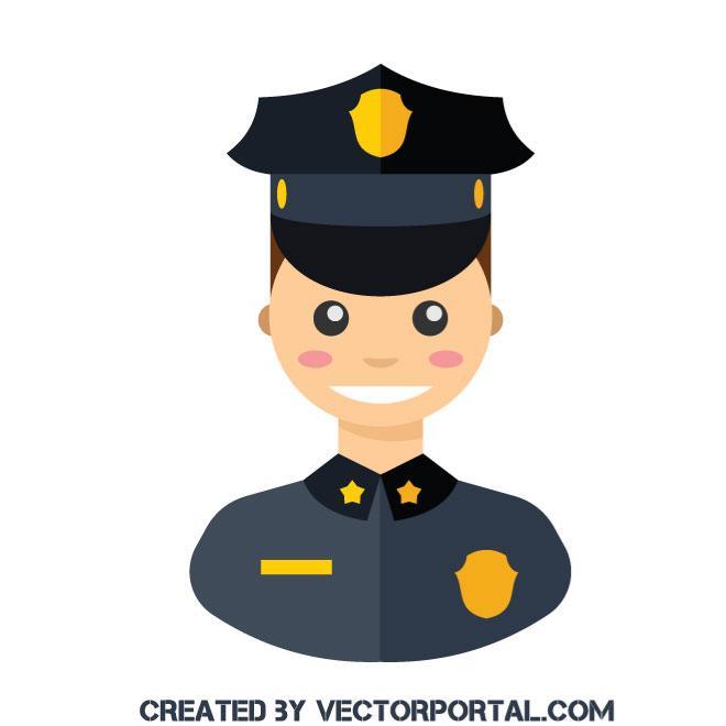 660x660 Police Officer Clip Art Vector