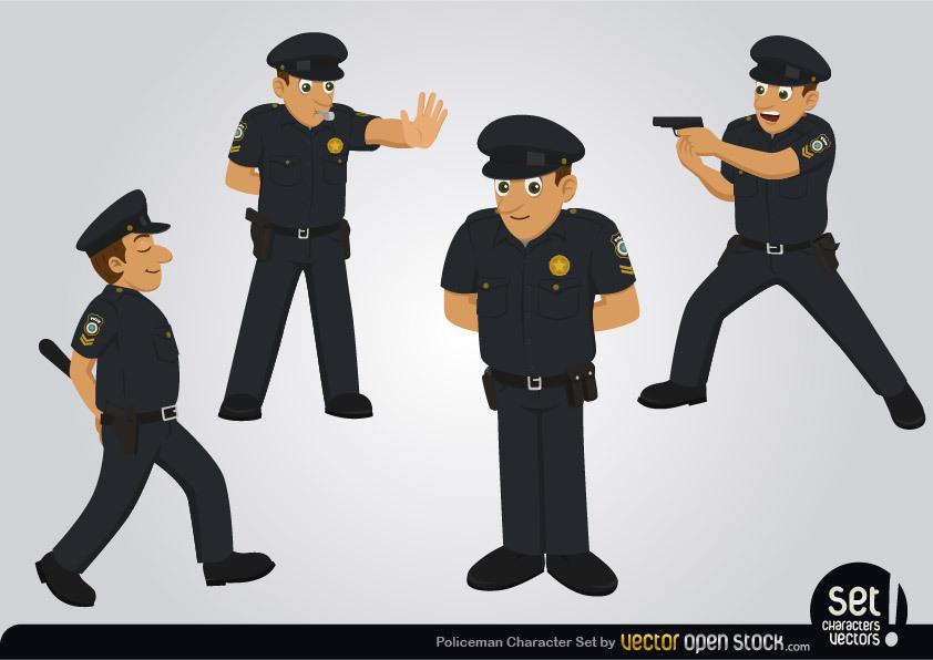 842x596 Policeman Character Set