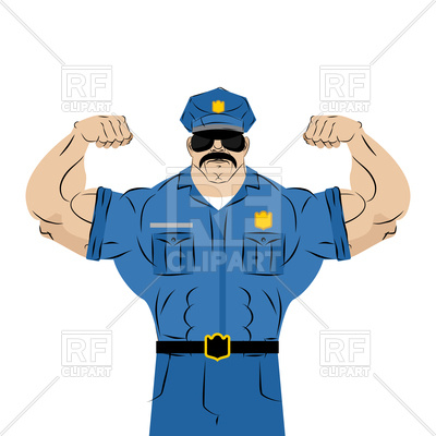 400x400 Strong Police Officer Vector Image Vector Artwork Of People