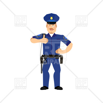 400x400 Cheerful Police Officer Wink Vector Image Vector Artwork Of