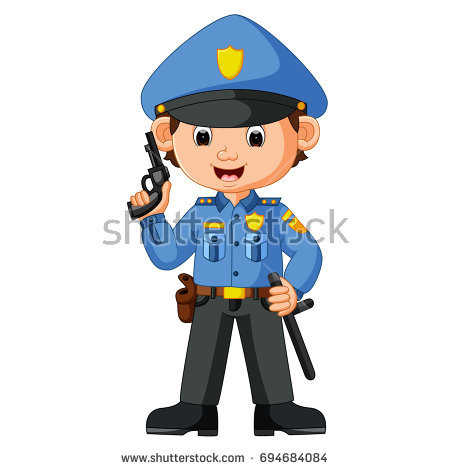 450x470 Delighted Picture Of Policeman Police Officer Royalty Free Vector