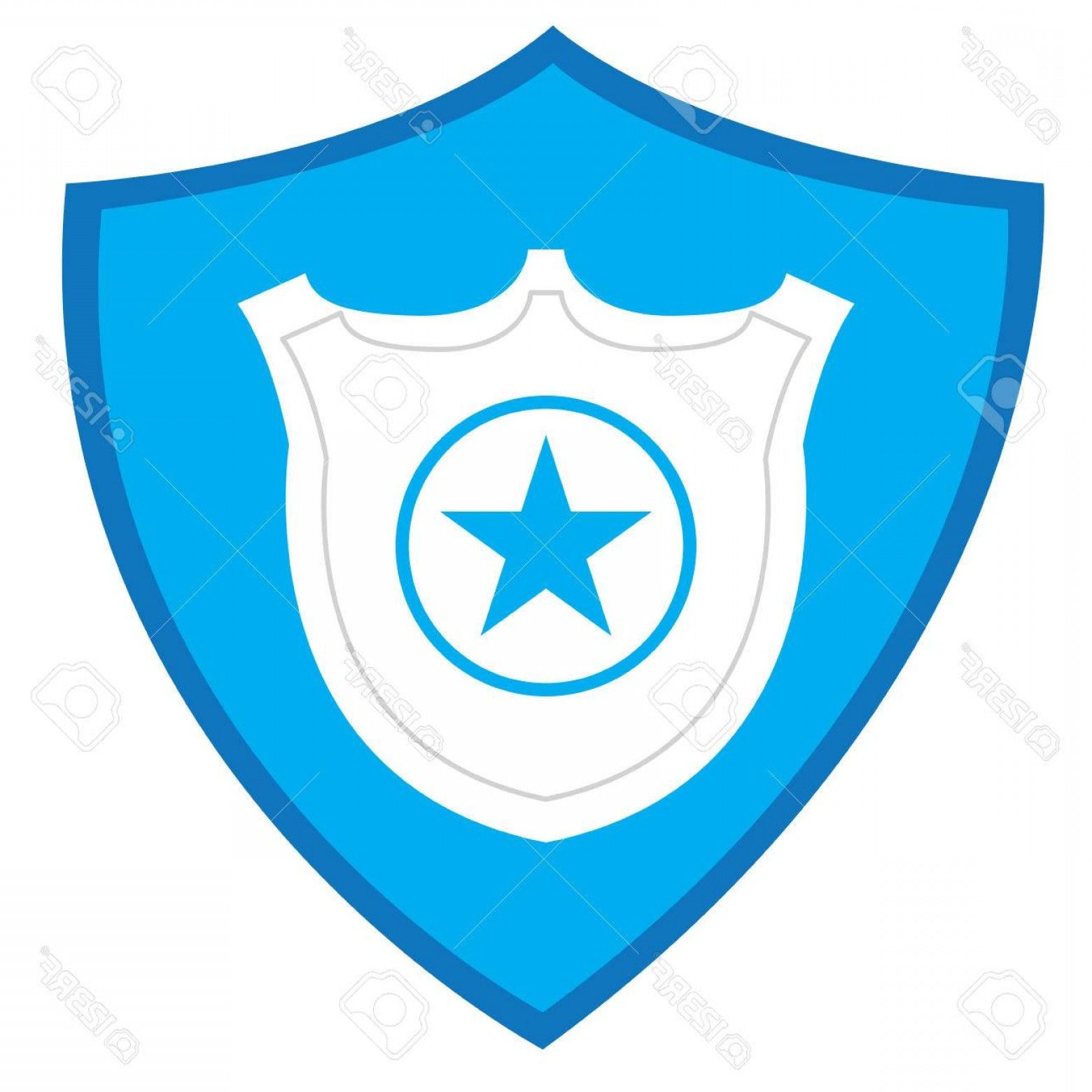 1560x1560 Photostock Vector Isolated Police Badge Silhouette On A Heraldry