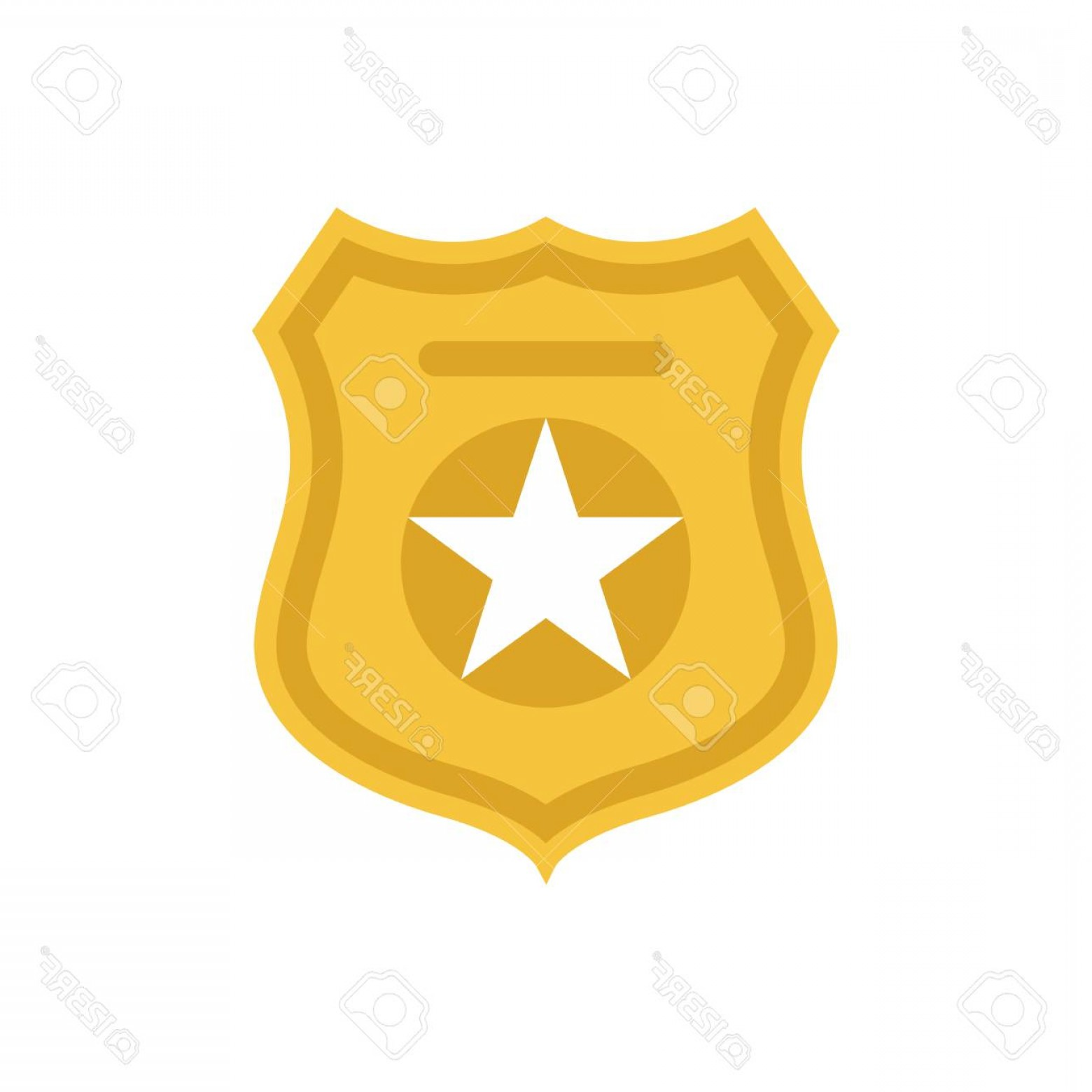 1560x1560 Photostock Vector Police Officer Badge Symbol Icon Of Law Order