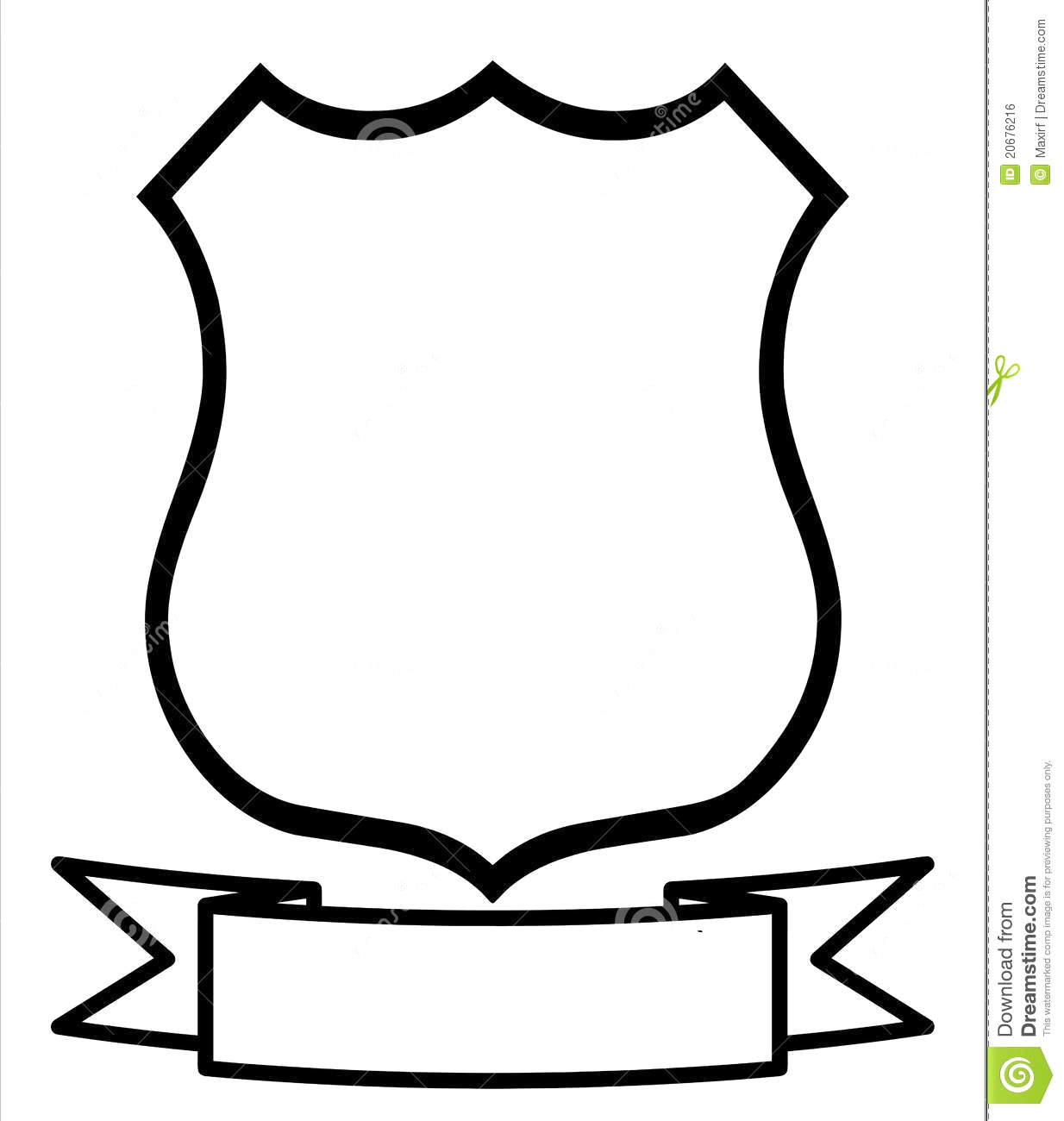 1234x1300 Police Shield Badge Icon Outline Style Vector 10842201