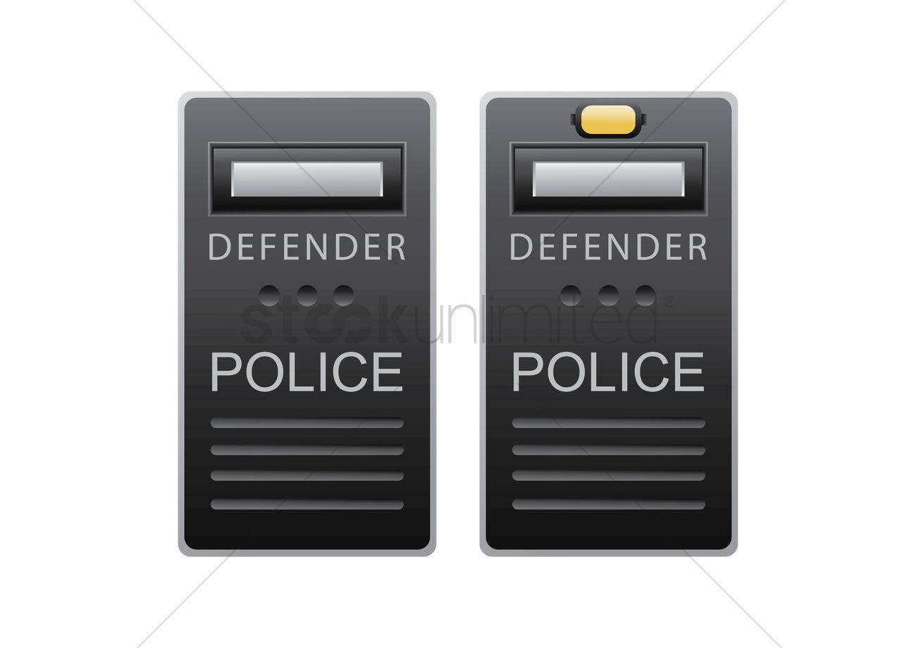 1300x919 Police Shield Vector Image