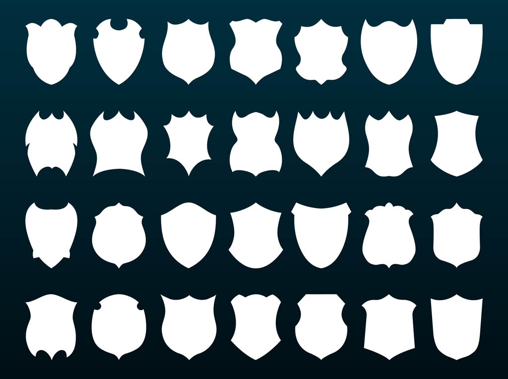 1024x765 Shields Silhouettes Free Vectors Ui Download