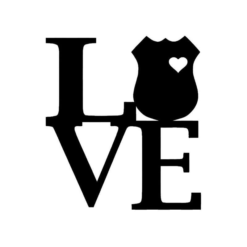 800x800 Wholesale 10pcslot 20pcslot Love Police Shield Sticker Vinyl