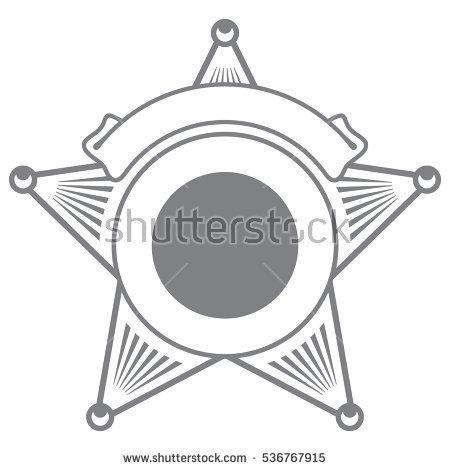 Police Star Vector