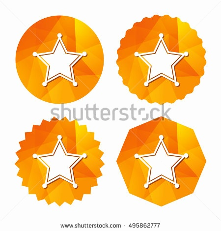 450x470 Sheriff Star Outline Beautiful Star Sheriff Sign Icon Police
