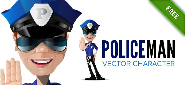 594x274 Police Vector Characters