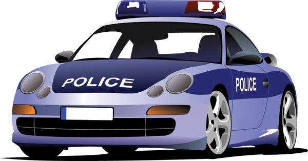600x314 Police Car Vector Templates