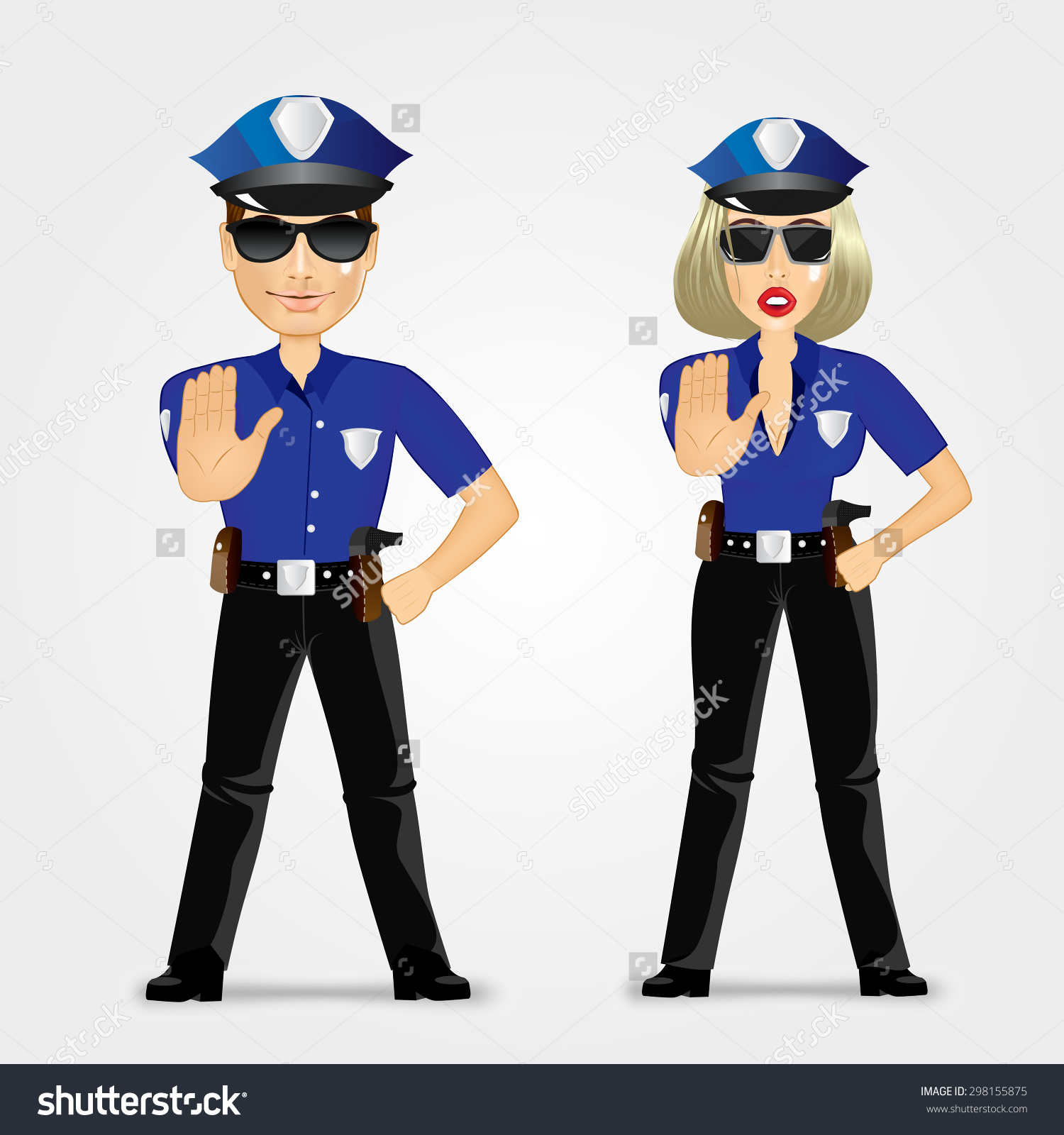 1500x1600 Police Traffic Woman Banner Library Stock