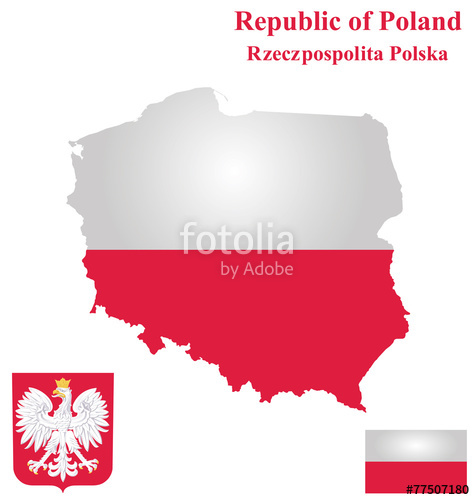 475x500 Flag And Coat Of Arms Of The Republic Of Poland Stock Image And