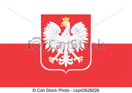 450x319 Flag Of Poland With Coat Of Arms. Vector Format.