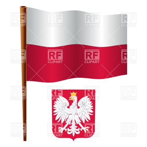 480x480 Poland Flag And Coat Of Arms Vector Image Vector Artwork Of