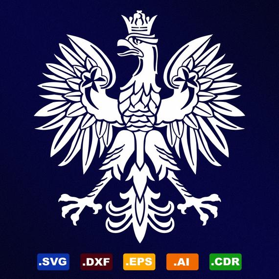 570x570 Polish Eagle Symbol Emblem Coat Of Arms Svg Dxf Eps Ai Cdr Etsy